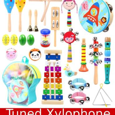 Ohuhu Music Toys Kid Musical Instrument Set for Child with Tuned Xylophone